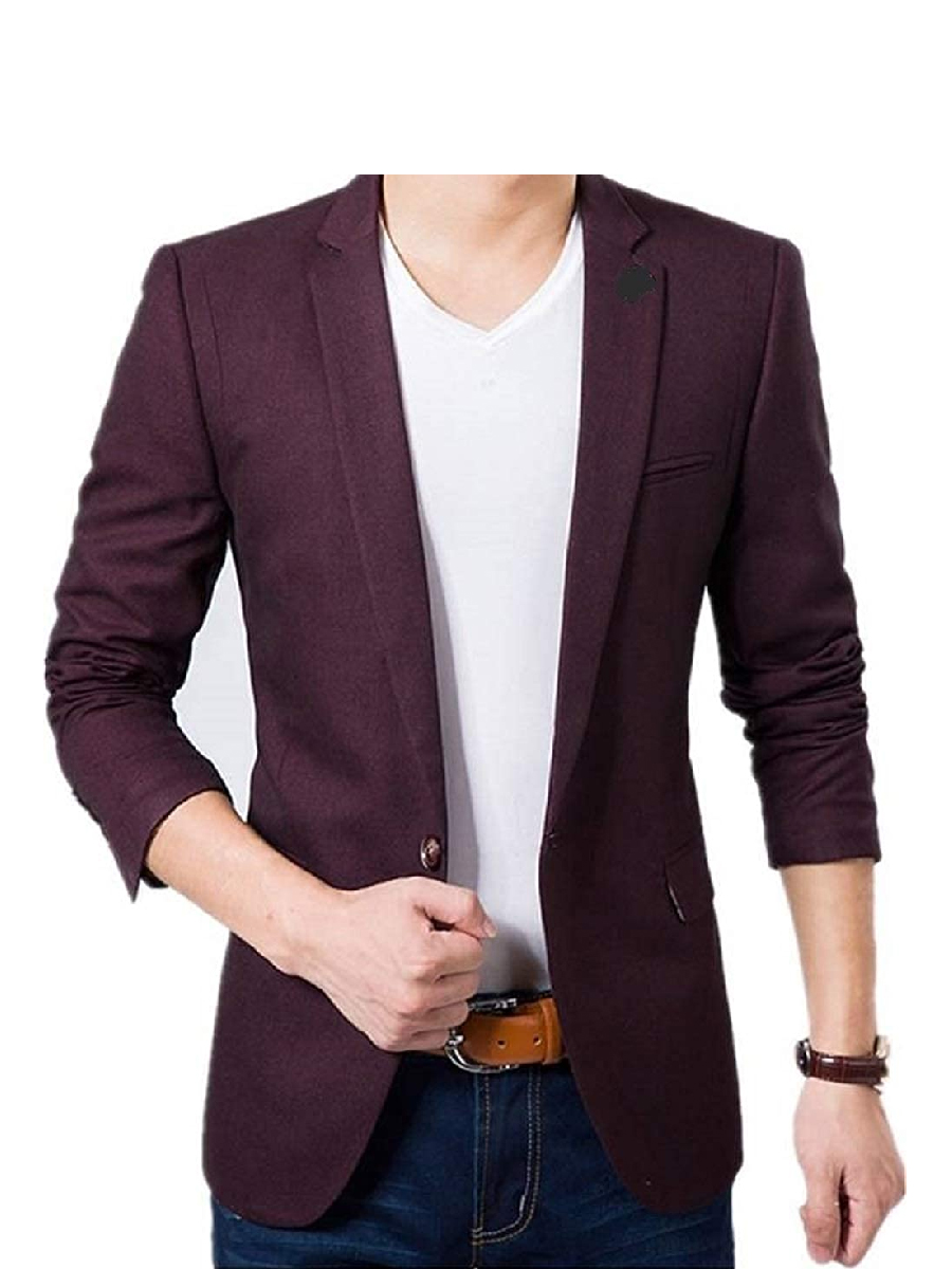 MENJESTIC Men's Regular Fit Single Breasted Blazer